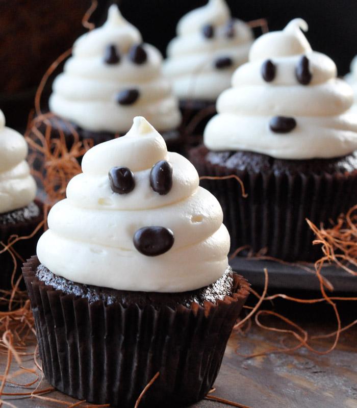 mesa de halloween cupcake